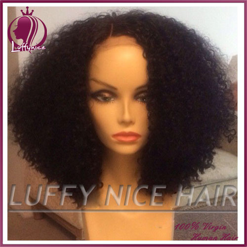 Brazilian afro kinky curly wig afro kinky curly human hair wigs for black women 130% glueless full lace wigs & lace front wig