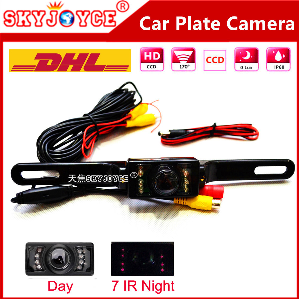 20 X DHL Freeshipping Rear view camera car license plate camera Night vision car camera CCD HD SEAT FR car stylingaccessories(China (Mainland))