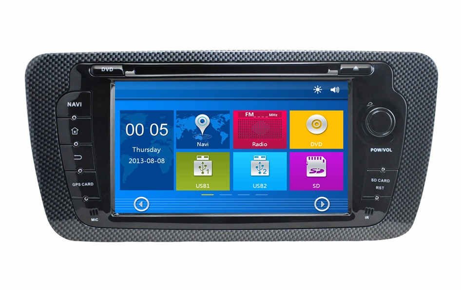"""HD 2 din 7"""" Car DVD Radio GPS Navigation for Seat Ibiza 2009 2010 2011 2012 2013 With Bluetooth IPOD TV SWC USB AUX IN Canbus(China (Mainland))"""