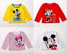 2016 New Fashion Mouse Baby Girls Boys Kids Long Sleeve Blouses Tops Shirts