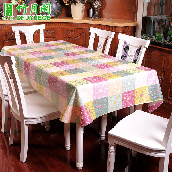 PVC Table Cloth Plastic Waterproof Oil Dining Tablecloth Flower Printed Rectangle Table Cover Overlay Table Cloths EVA018(China (Mainland))