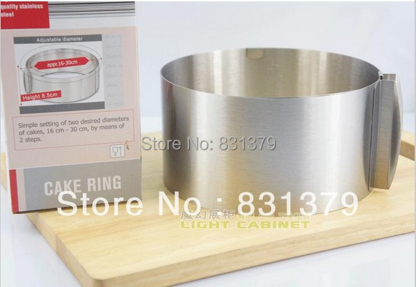 FREE shipping retractable stainless steel circle mousse ring baking tool set cake mould mold size adjustable bakeware CX670630(China (Mainland))