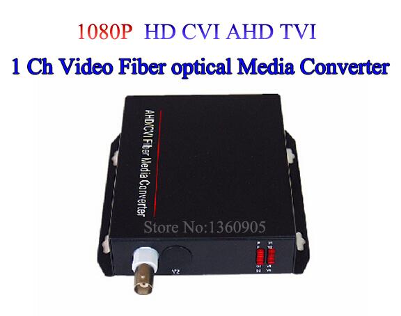 1 Channel 1080p HD CVI AHD TVI Video Fiber optical Media Converter - For 1080p 720p Hikvision TVI Dahua CVI Coaxial CCTV Camera<br><br>Aliexpress