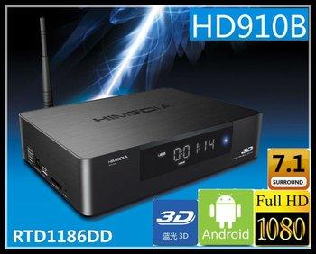 Free shipping Himedia HD910B 3D Full HD 1080p HDMI 1.4 Blu-Ray ISO Media Player Realtek 1186