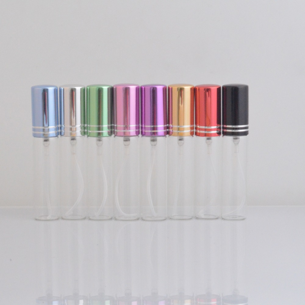 1Piece Free Shipping Travel Refillable Perfume Bottle&Glass Spray Empty Bottle with 8 Colors(China (Mainland))