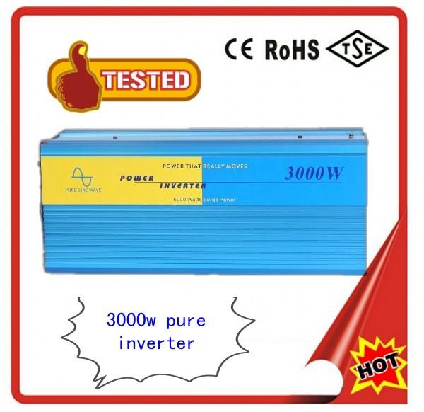 Hot Sell, 3000W Solar Power Inverter, DC48V to 120V Pure Sine Wave Inverter for Off solar System