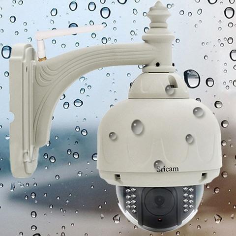 Sricam AP006B 3X Optical Zoom Wireless PTZ Dome Outdoor IP Camera US Plug FREE SHIPPING DHL EMS #gib(China (Mainland))