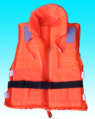 100KG oxford cloth with collar zipper buckle water life jacket buoy life vest floatation jacket foam ring bath Scrubber, Sponges(China (Mainland))