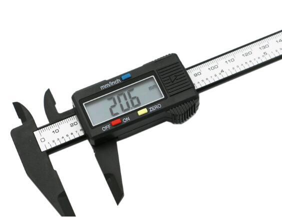 Free shipping 150mm 6inch LCD Digital Electronic Carbon Fiber Vernier Caliper Gauge Micrometer(China (Mainland))