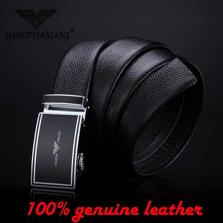 2015 new classic 100% Genuine Leather men's belt stylish famous brand black belts mens luxury automatic buckle ceinture homme(China (Mainland))