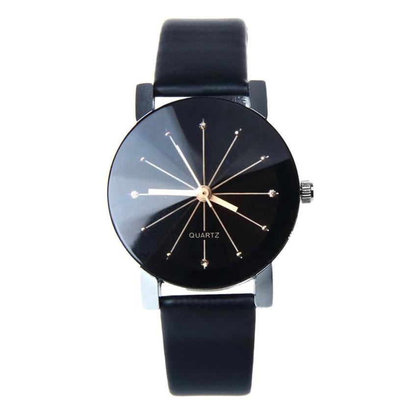 JECKSION Luxury Quartz Women Watches 2016 Fashion Black Dial Clock Leather WristWatch Round Case Y0<br><br>Aliexpress