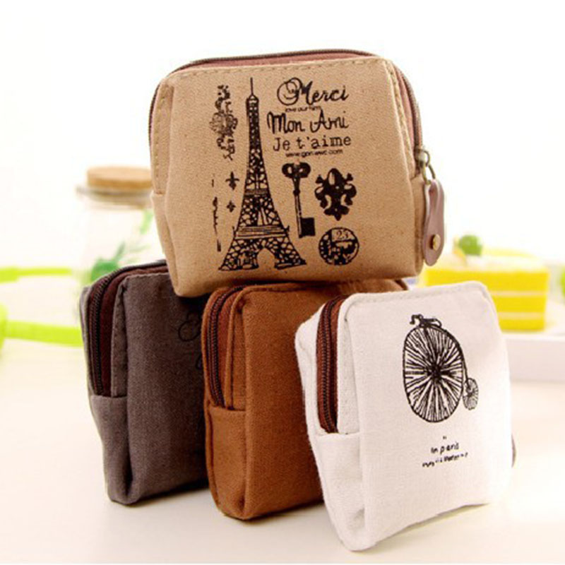 Women Vintage Hot Canvas Cloth Purse Wallet Card Key Coin Bag Pouch Case DJ0304<br><br>Aliexpress