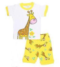 Buy Children Pijamas Clothing Pyjamas 2017 Summer Kids Pajamas Sets Baby Boys Girls Sleepwear Short Sleeve Pijamas Cotton Costume for $5.59 in AliExpress store