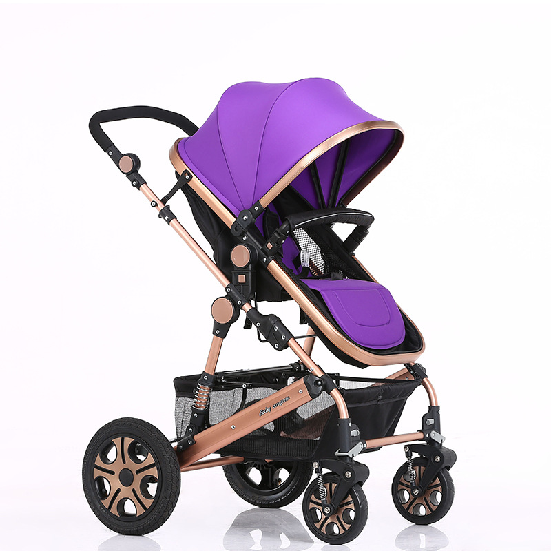 Deluxe Baby Stroller Portable Baby Carriage Ultralight Pushchair Folding Pram with 2 Pneumatic Wheels +2 EVA Wheels 11 Colors<br><br>Aliexpress