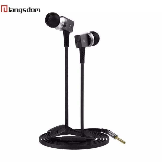 Original Brand Langston M8 Earphone Headphones Stereo Bass Metal Headset For XiaoMi Samsung iPhone MP3 MP4 With Remote And MIC(China (Mainland))