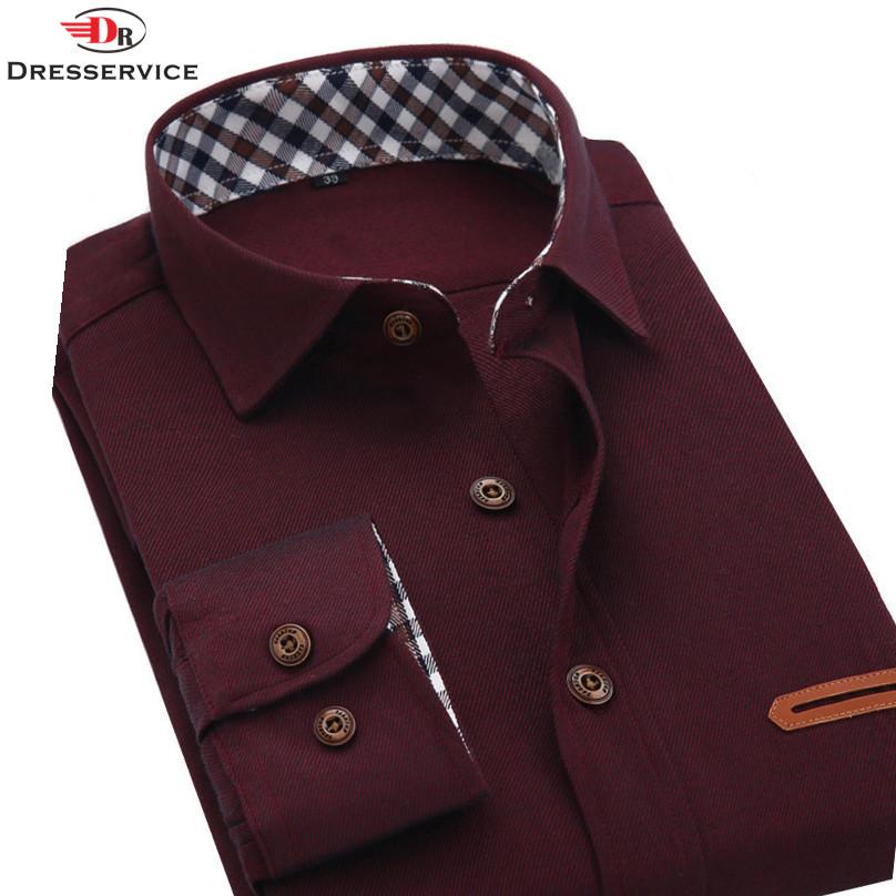 2016 Mens spring models thick brushed denim fashion casual long-sleeved shirt shirt simple European style(China (Mainland))