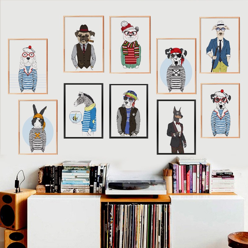 Fashion Animals Giraffe Zebra Horse Canvas Painting A4 Art Oil Prints Poster Hippie Wall Picture No Framed Office Home Decor(China (Mainland))