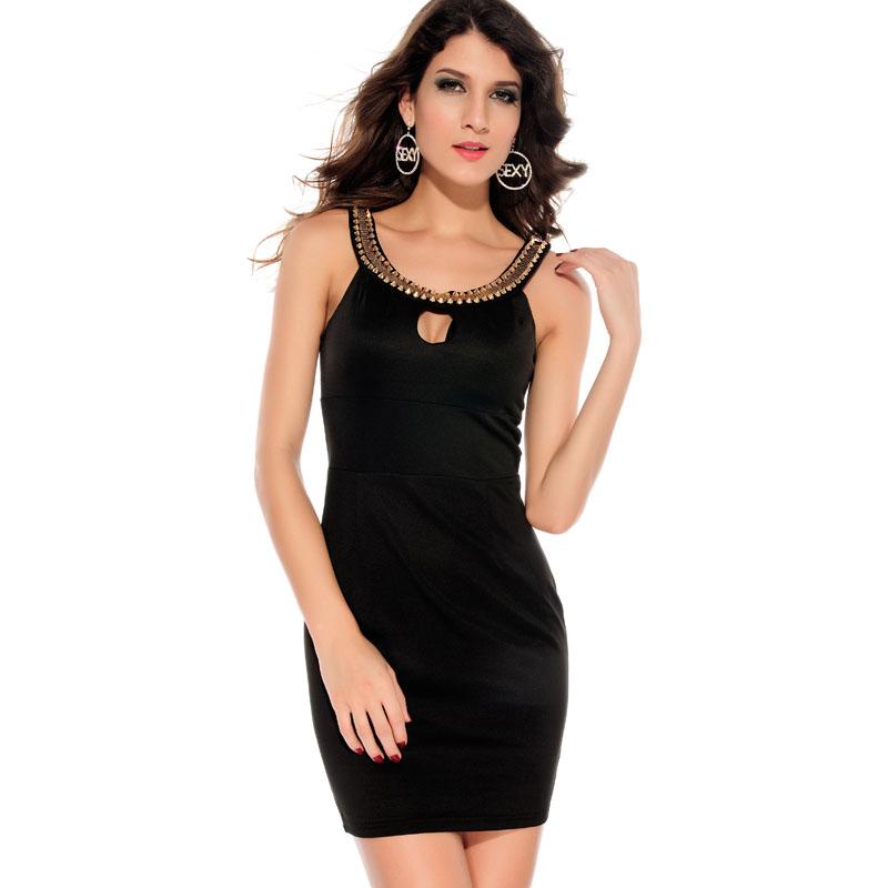 Платье Черное С Золотым Доставка