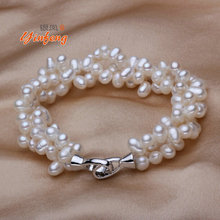 100% Natural Freshwater Pearl Bracelets Fashion design accessories With high Quality(China (Mainland))