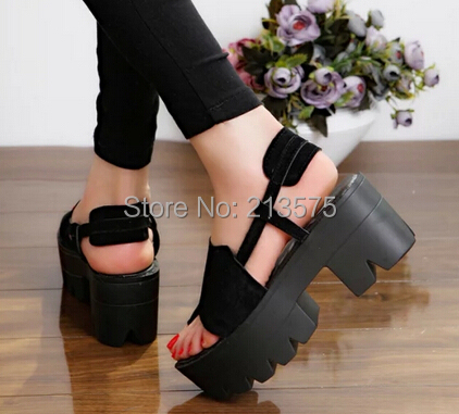 2015 New Summer Lady Strappy Platform Block Heel Chunky Pure Buckle Leather Peep Toe Ankle High Sandals Women Gladiator Shoes - Aliexpress Boxes store