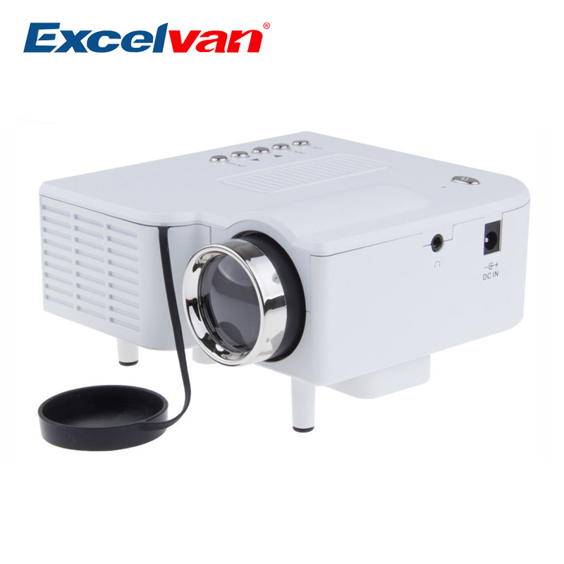 Excelvan uc28 portable led projector cinema theater for Portable projector with usb input