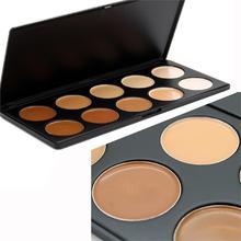 2016 hot sale Most Popular Colors 10 Colors Professional Makeup Kit Concealer Foundation Matte Eyeshadow Palette(China (Mainland))