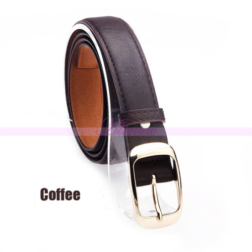 Free Shipping Retro Durable Women Lady Paint Leather Alloy Studded Buckle Belts 2015 New Arrival Promotion