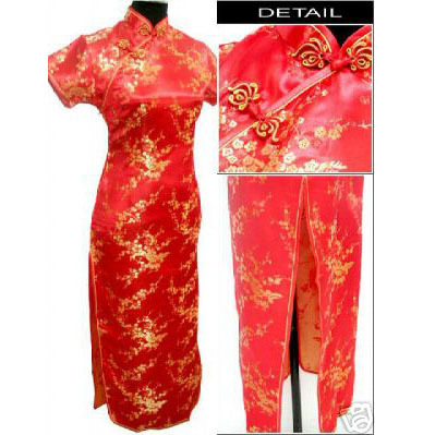 RED Fashion Chinese tradition Womens Qipao Long Cheongsam Dress Wedding Evening dress Size S to 6XLОдежда и ак�е��уары<br><br><br>Aliexpress