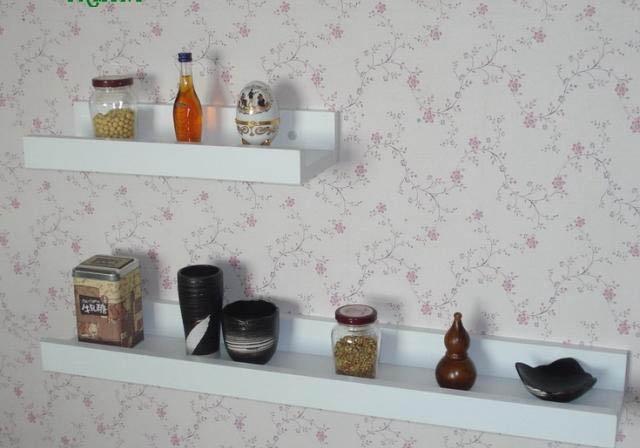 Simple white black word separator shelf bracket shelf storage wall living room wall decoration kitchen<br><br>Aliexpress