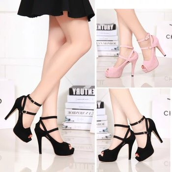 Open toe women pumps female high heels platform women shoes single shoes thin heels open toe female leg bandage free shipping
