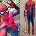 Movie Cose High Quality Custom Made Embossed Spider Captain America Civl War Spider man Costume Civil