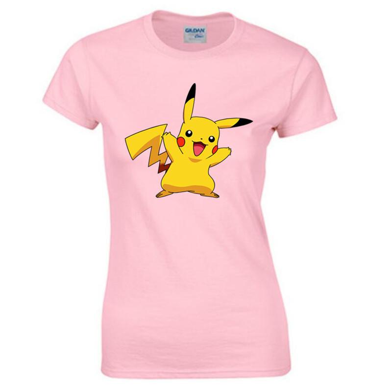 font b Pokemon b font font b GO b font T Shirt Women Summer Hipster