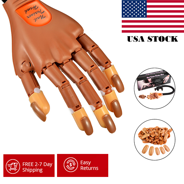 Wholesale 10pcs/lot Beauty Professional Supply Super Flexible Rotate like Human Fingers Training Practice Hand Nail Trainer