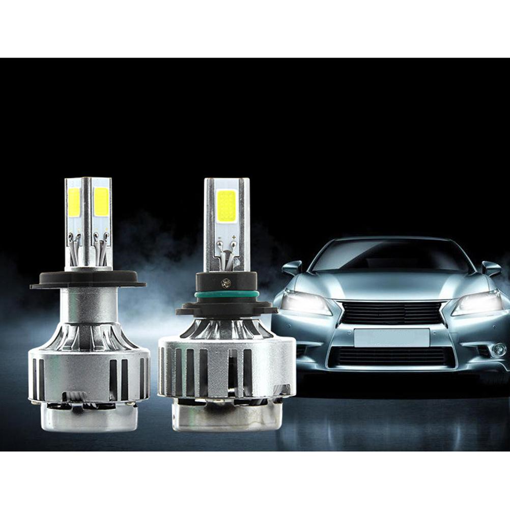 Фотография A336 H4 Hi/Lo Car Led Headlight Fog Lamp 3 COB 3300LM 6000K Car Lighting Bulb New All In One Led Car Lamp