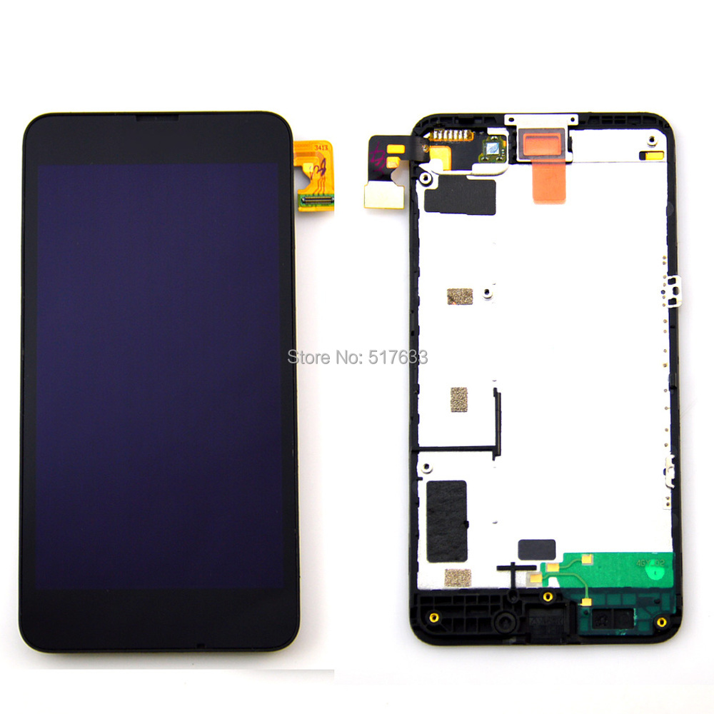 Lumia 630 Black lcd display touch screen digitizer with frame full assembly Replacements for Nokia Lumia N630,free shipping!!