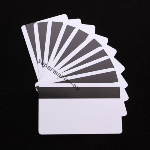 free shipping 50 pieces in 1 pack blank card CR80 ID ISO PVC Credit Card LoCo 1-3 Magnetic Stripe ~PVC Card Printer(China (Mainland))