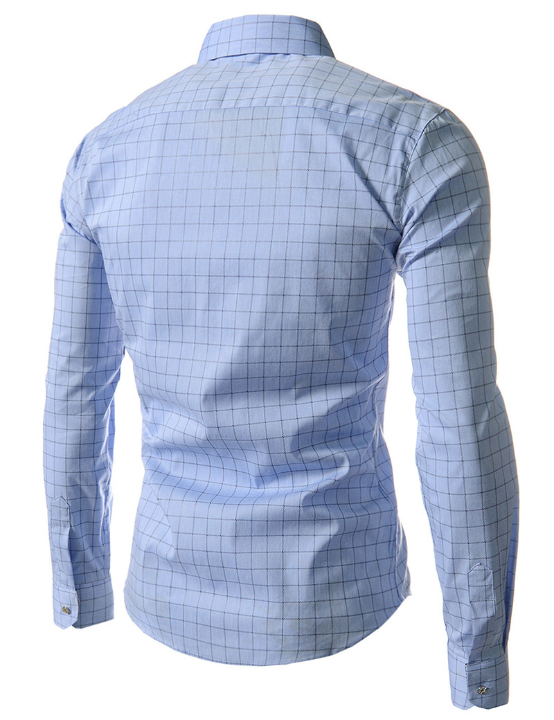 Man Shirts New 2015 Fashion Plaid Male Casual Dress Shirt Slim Fit Men s Shirt Long