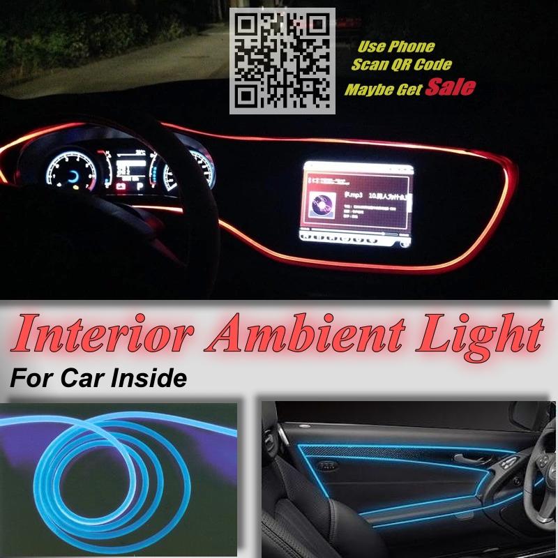 For Chrysler Neon Car Interior Ambient Light Panel illumination For Car Inside Tuning Cool Strip Refit Light Optic Fiber Band(China (Mainland))