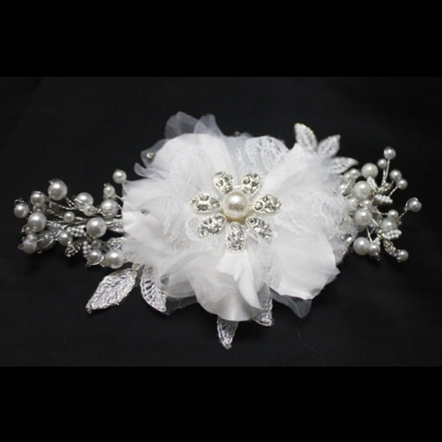 Bh21 2015 потрясающие кристаллы жемчуг невесты для волос красивая Headwears цветы ...