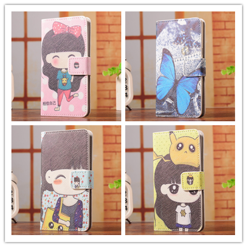 6 Select 1 Luxury Fashion Cartoon Trend Stand Back Cover Skin Leather Case For Motorola Atrix HD 3 Dinara Quinara MB886(China (Mainland))