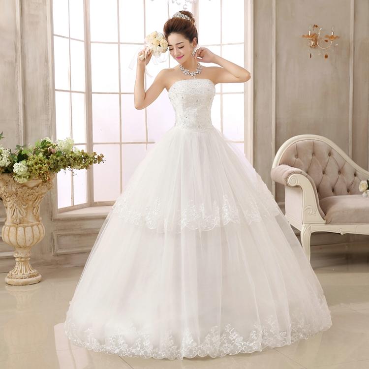 Free shipping 2015 latest romantic wedding dresses white for Design own wedding dress