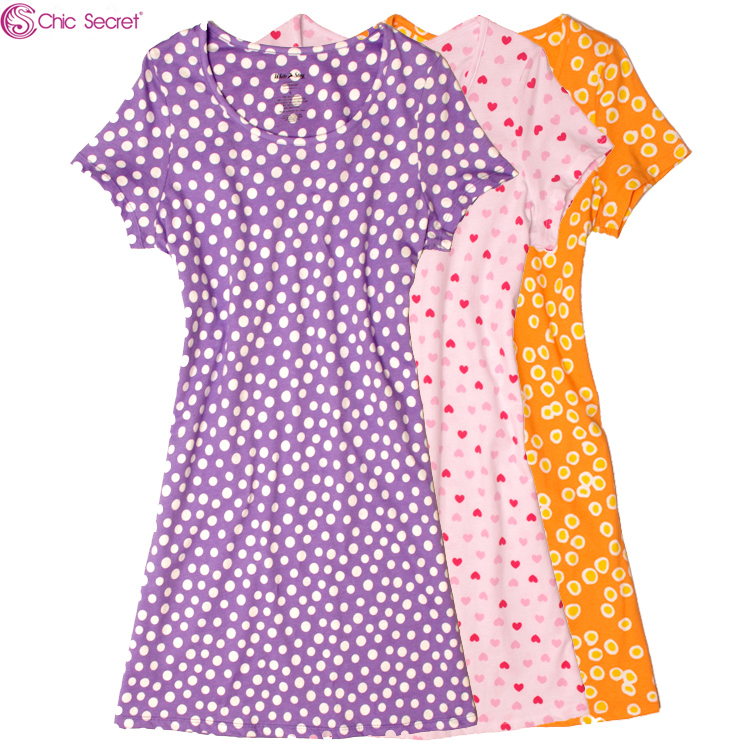 Summer cotton 100 cotton long t shirt nightgown women Long cotton sleep shirts