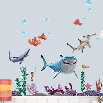 FINDING NEMO Wall Sticker Decor Decals Removable Vinyl Nursery Kids Room