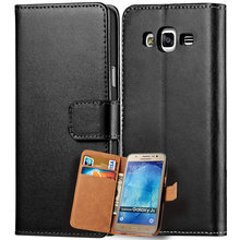 Genuine Leather Case Samsung Galaxy J5 2015 J500 Cover Luxury Wallet Flip Phone Bag Card Holder Coque - Tomkas Official Store store