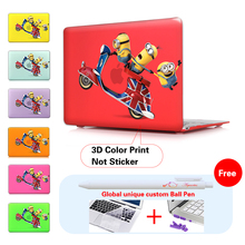 Funny Minions 3d Film Air 11 13 Print Matte Case Cover Shell For Macbook Laptop Sleeve Apple Mac Book Pro 13 15 12 Retina