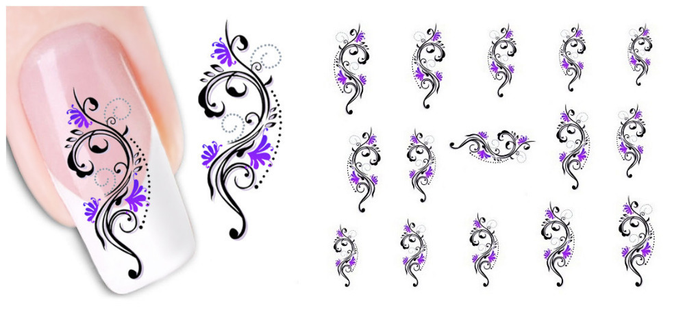 Fashion 1 piece 1Sheet 3D Design Tip Nail Art Sticker Decal carving white snow flower nail tools - Shenzhen Robinzon store