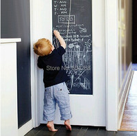 Vinyl Chalkboard Wall Stickers Removable Blackboard Decals Great Gift for Kids 45CMx200CM Free Shipping