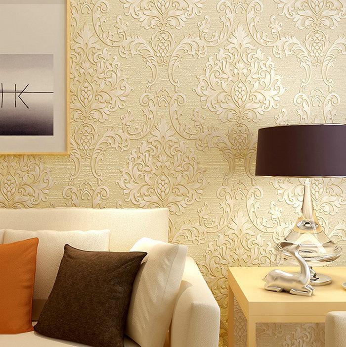 High end european modern 3d embossed tv background mural for High end wallpaper