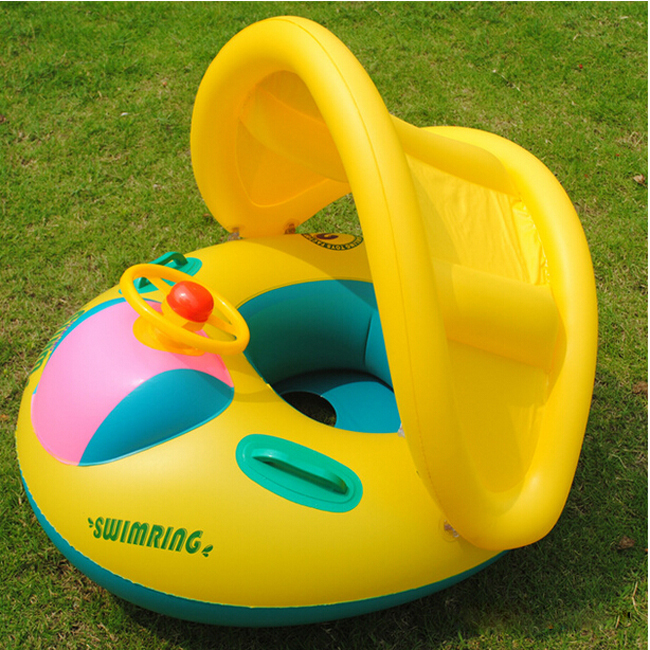 Inflatable Toddler Baby Swim Ring Float Seat Swimming Pool Seat With Canopy Free Shipping On