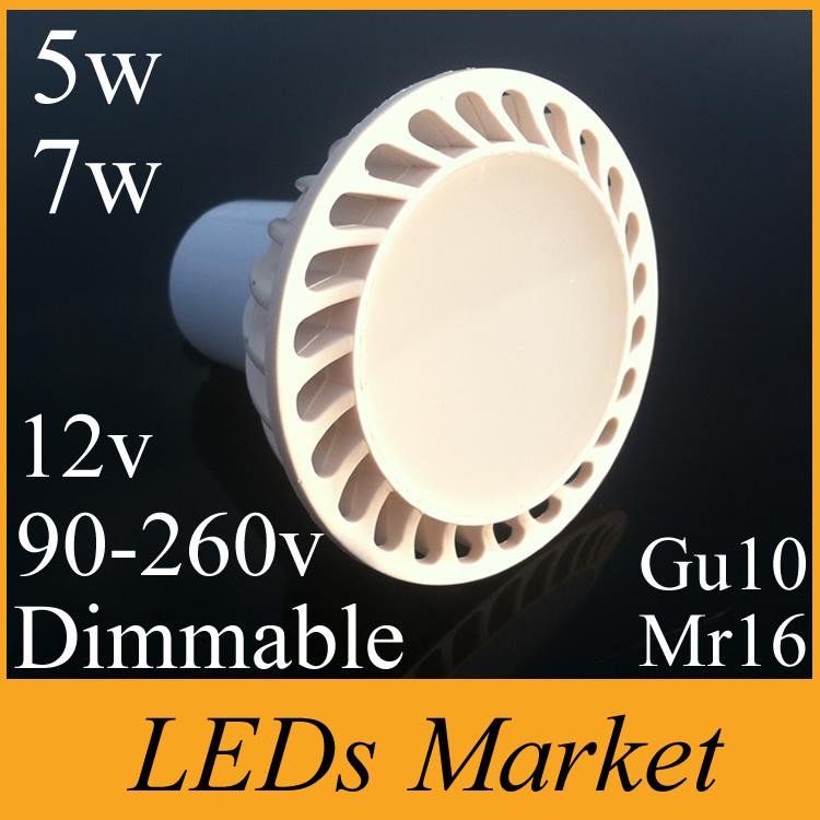 New arrival 5w 7w cob led spotlight gu10 mr16 dimmable led light lamp 110v 220v frosted led spot light warm cold white Free DHL(China (Mainland))